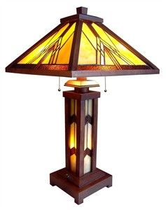 Tiffany style table lamp mission with lit base abc 21030w dt3 a tiffany style table lamp mission with lit base abc 21030w dt3 a new ebay mozeypictures Gallery