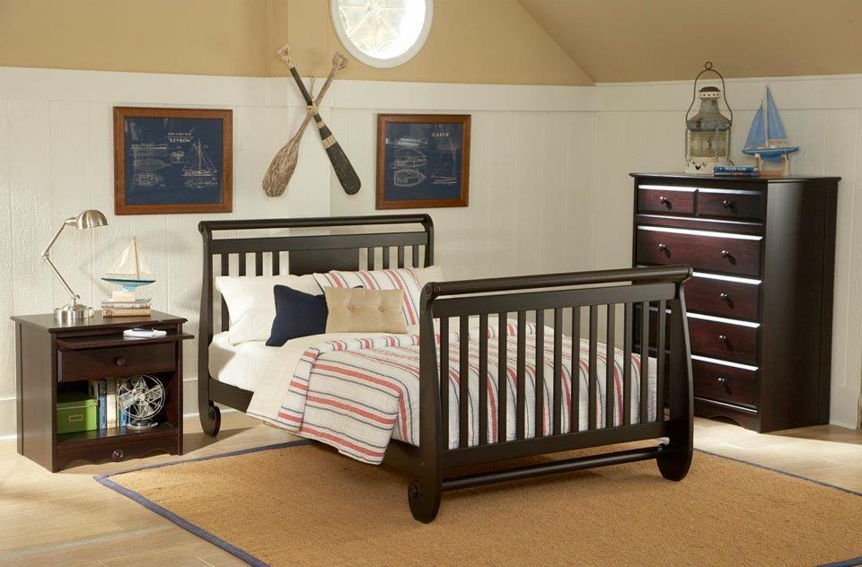 Serenity Crib converted into fullsize bed. Serenity