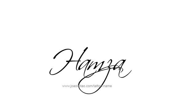 Hamza Name Tattoo Designs   hamza   Name tattoo designs