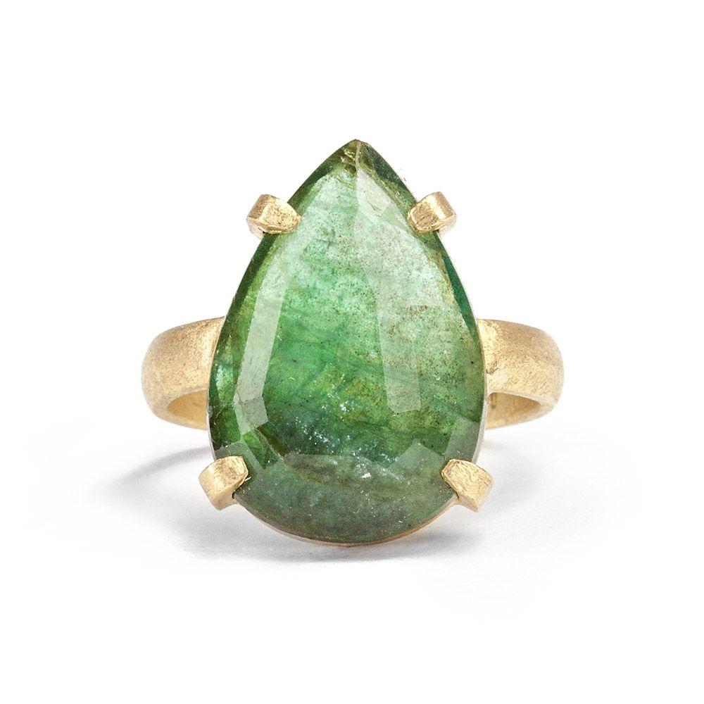 Emerald Tear Ring @ KAREN LIBERMAN JEWELLERY