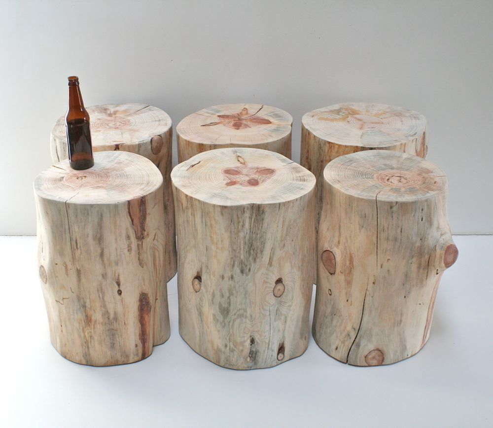 AuBergewohnlich Stump Table Natural No Finish Sealer Applied Tree Trunk Stool Seat  Reclaimed Eco Friendly Minimalist