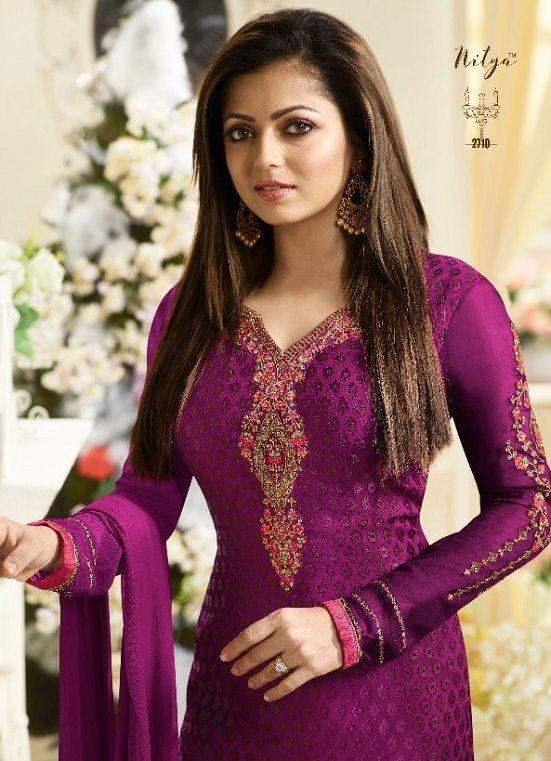 b2a2b19b34 Lt Nitya Vol 127 Brasso with Embroidery Salwar Suit 2710 | DESIGNER ...