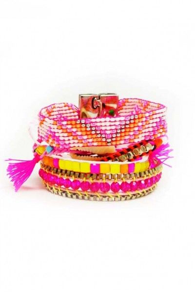 Hipanema Jewelry 'Fluo Pink Bracelet' | Orchid Boutique