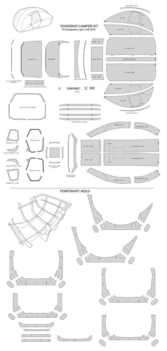 chesapeake light craft teardrop camper kit