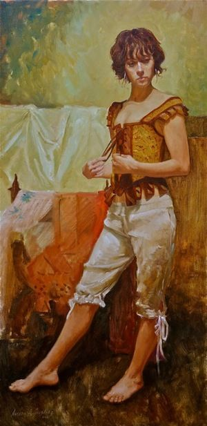 Anthony Gonzalez It May Be So Oil on Linen 36X18 $5,500