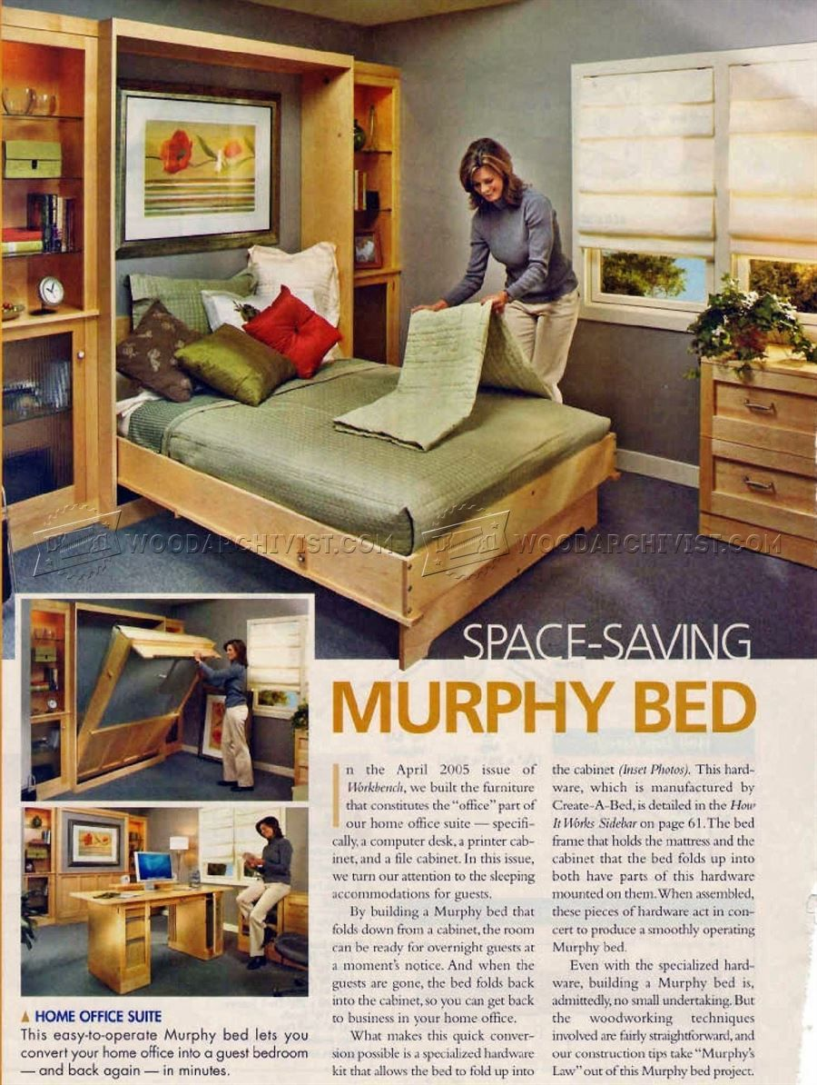 murphy bed plans furniture plans murphy bed ideas in