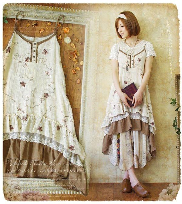 88c6ade4e517 Summer New Japanese Sweet Harness Long Dress Sleeveless Mori Girl Retro  Dress  NEW  Casual