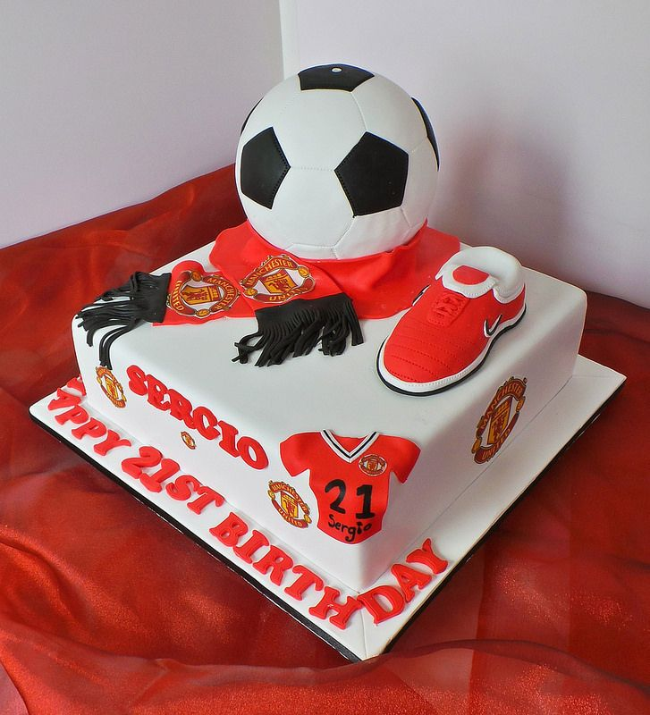 Manchester United 21st Themed Birthday Cake Willi Probst Bakery