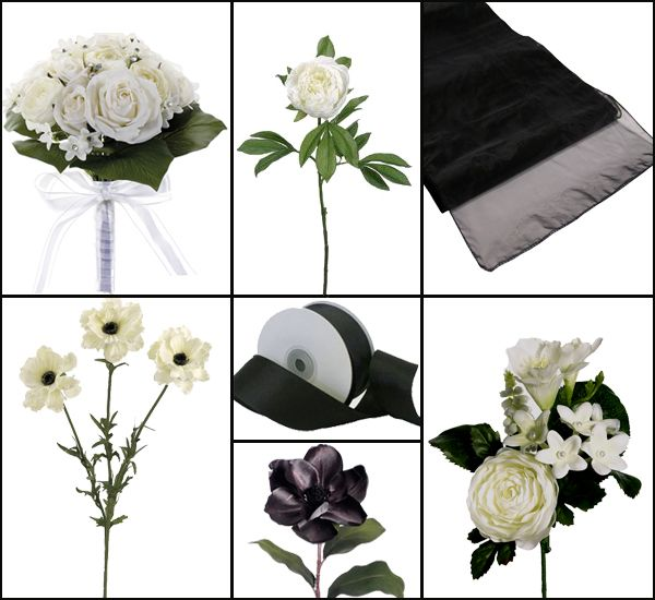 #Black and White Wedding #afloral http://bit.ly/17jOjQ