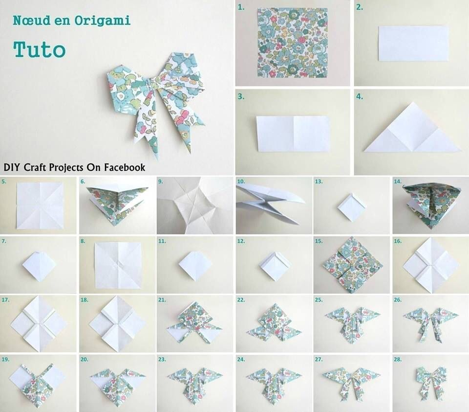 Noeud Origami Do It Yourself Pinterest Diy Origami Origami