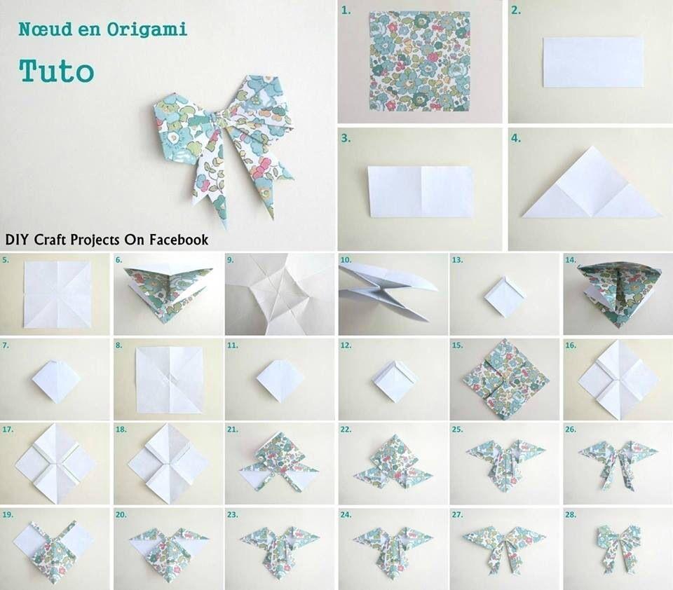 tuto origami noeud. Black Bedroom Furniture Sets. Home Design Ideas