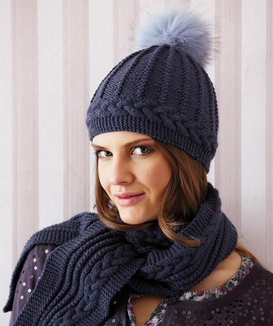 Ladies\' Bobble Hat & Scarf -- free pattern | Knitting -- Hats and ...