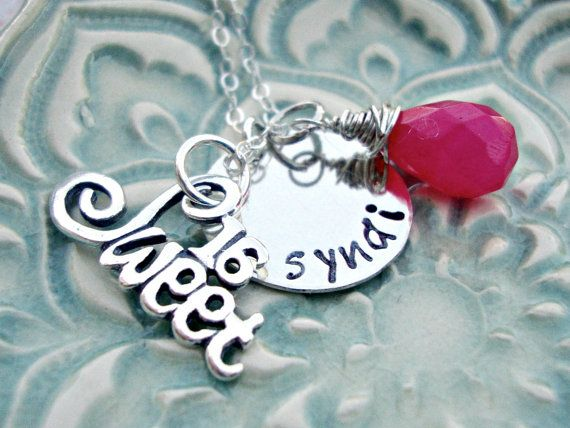 Hand Stamped Jewelry  Personalized Necklace by 3LittlePixiesShoppe, $36.00