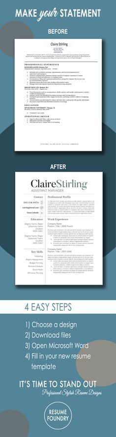Modern Resume Template - the Claire Career, Job search and - how to update a resume examples