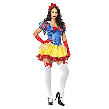 Snow White Princess Style Yellow  Red Women\u0027s Carnival Party - hot halloween ideas