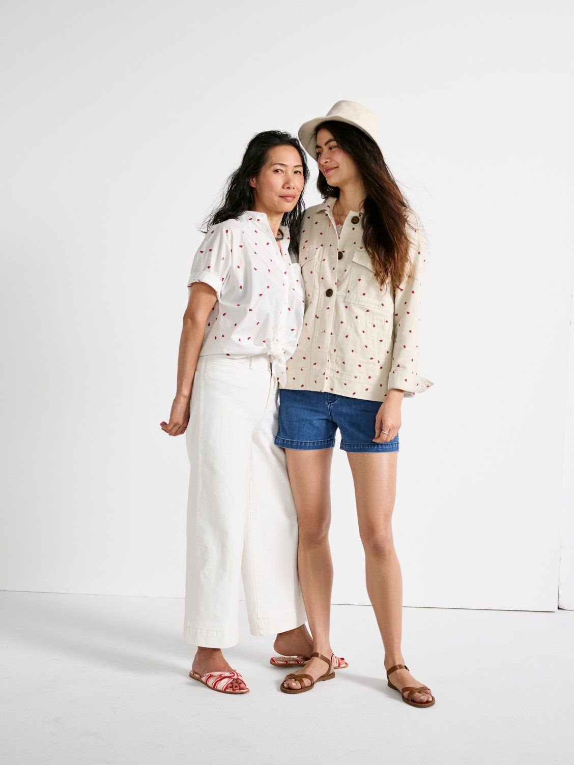 80bad4ddf our friend jessica wears madewell short-sleeve tie-front shirt, emmett wide-