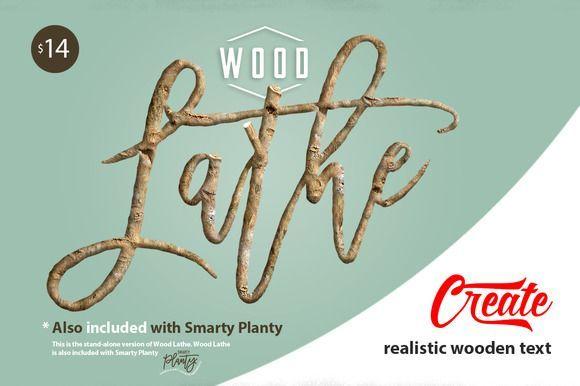 Cool wood lathe real wood text maker creativework fonts