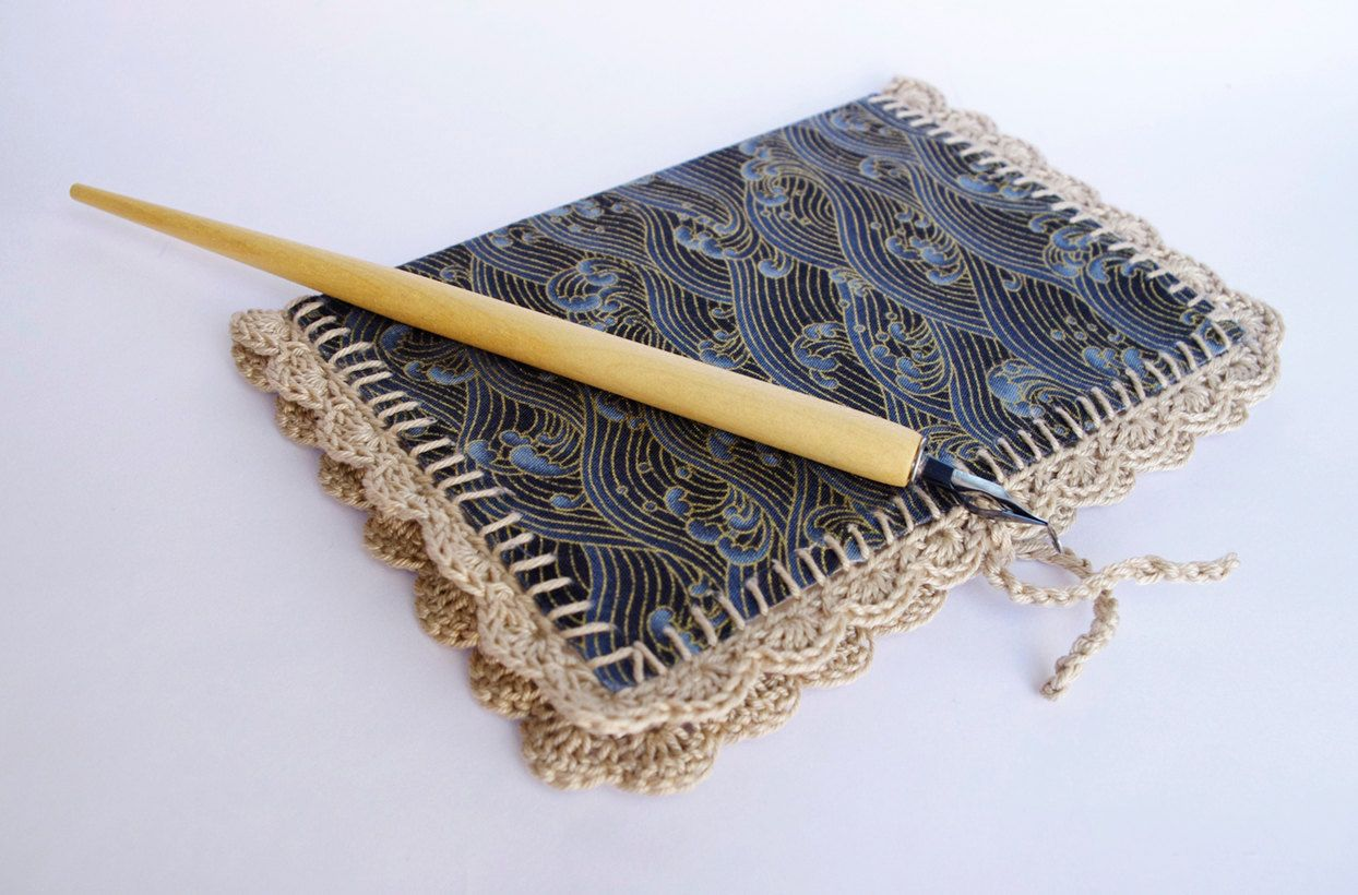 Notebook Cover japanese fabric lace