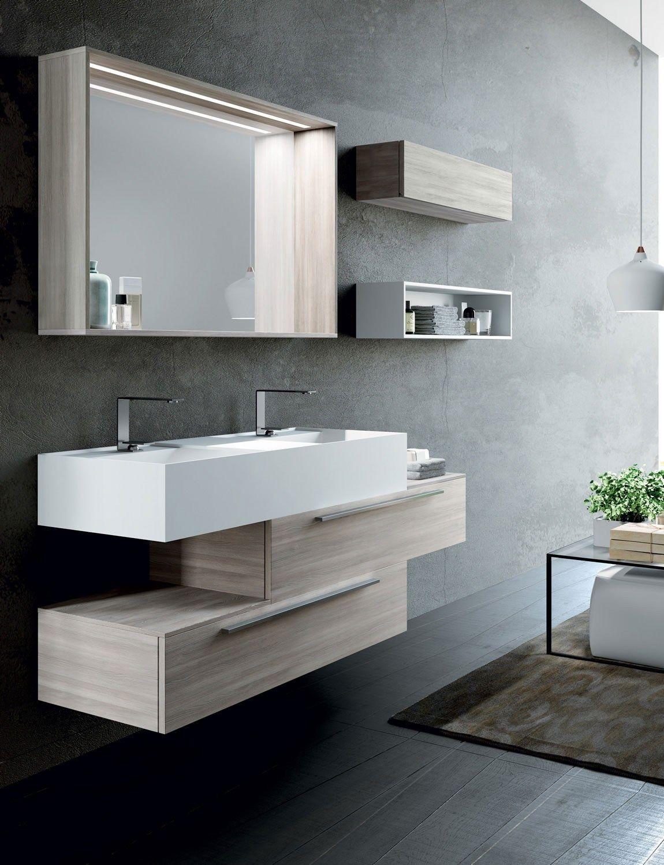 Wallmounted vanity unit with mirror SYN 13 lasaidea