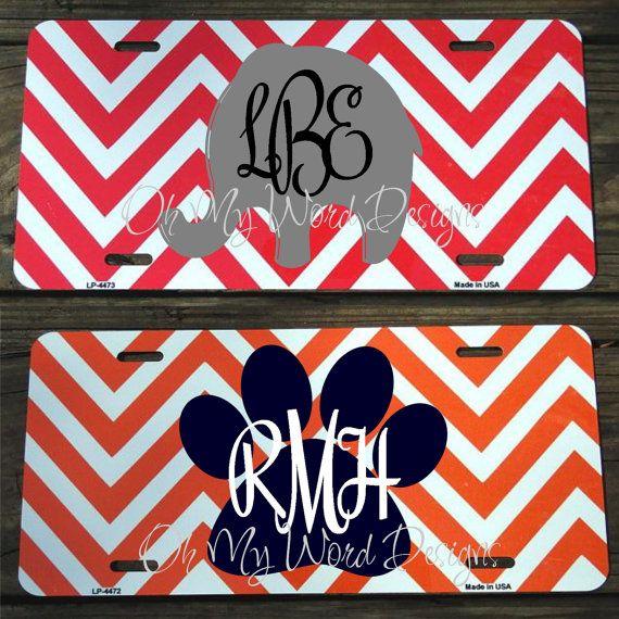 Alabama Car Tags >> Personalized Preppy Car Tags Via Etsy Oh My Word Design