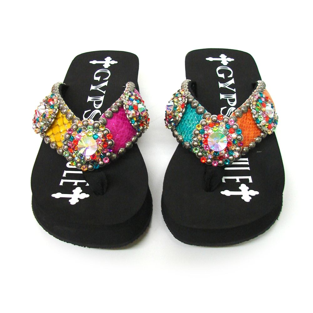 74e8851d9 Gypsy soule little devil embellished flip flops with a pretty price tag jpg  1000x1000 Gypsy soule