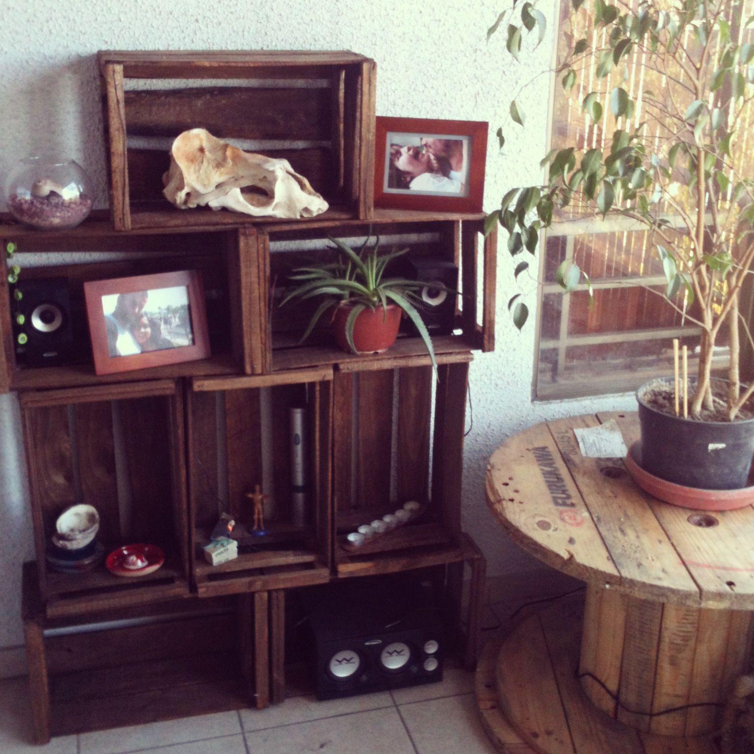 Modular hecho con cajas de verduras | palets y reciclaje | Pinterest ...