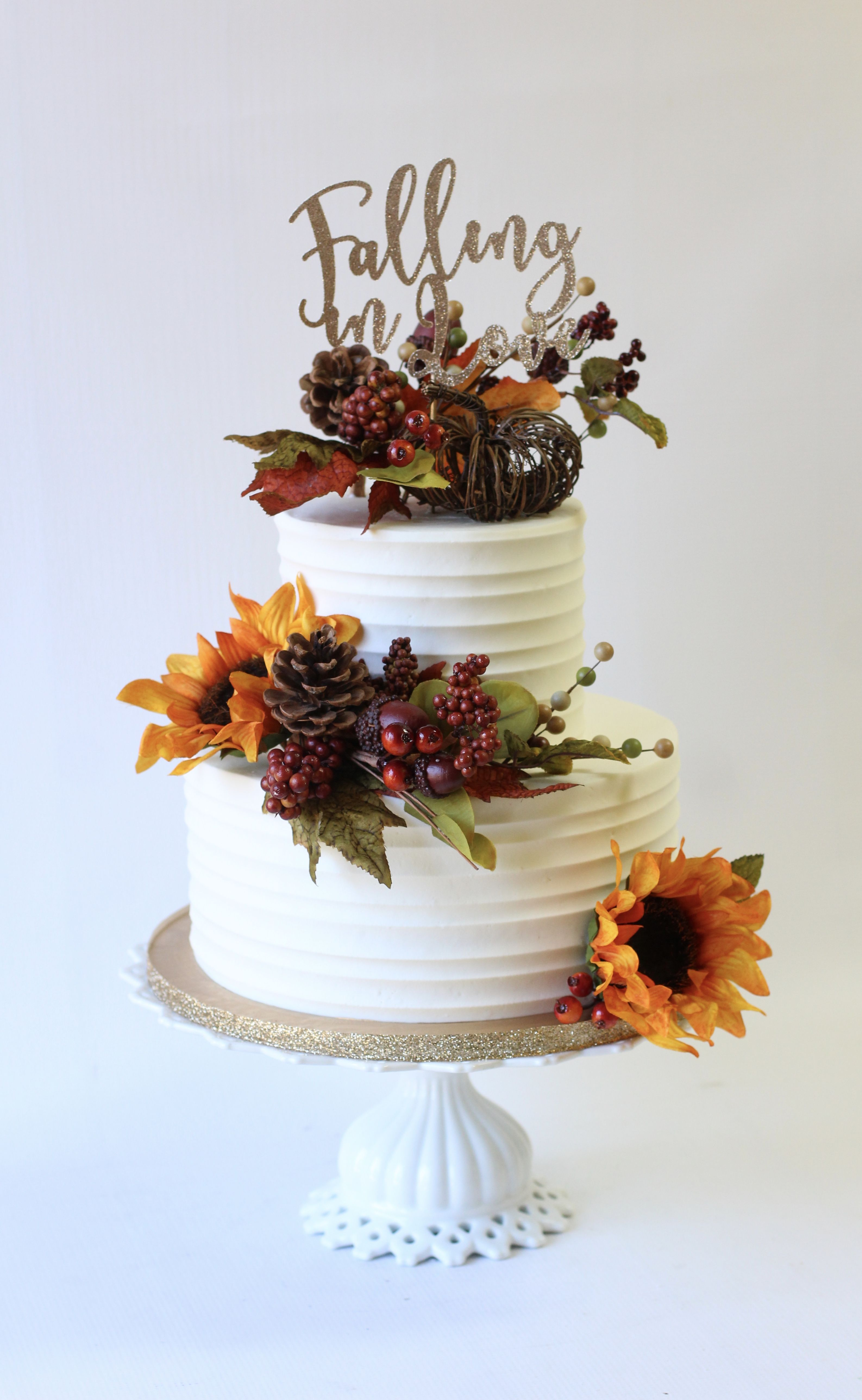 Fall themed bridal shower cake | Fall bridal shower ...