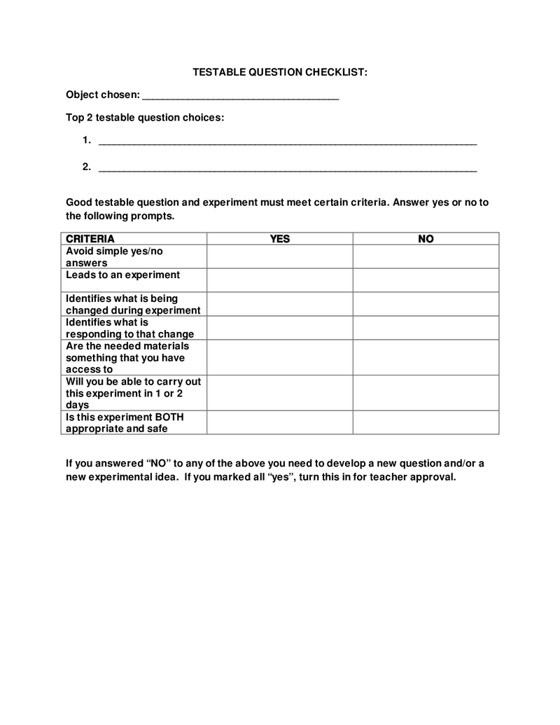 worksheet Testable Questions Worksheet testable question 5th science pinterest question