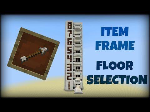 Minecraft 1.8 - Multi Floor Elevator with Item Frame Floor Selection ...