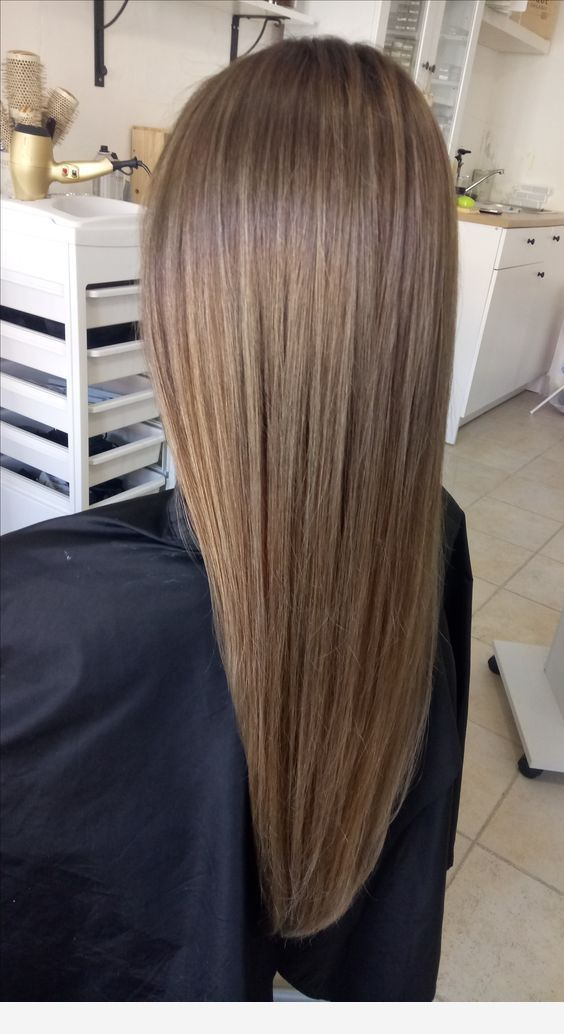 Light brown straight hair