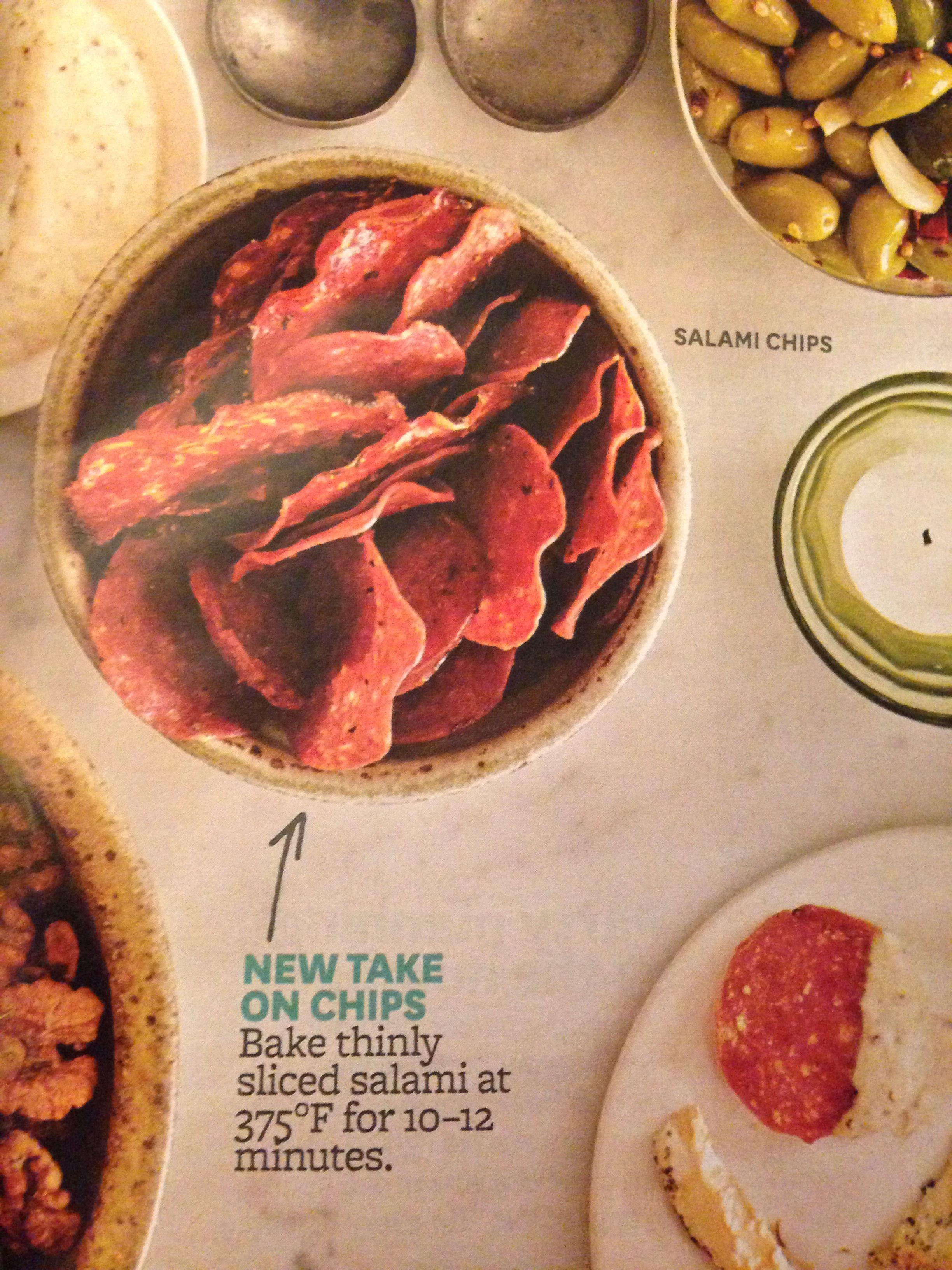 how to make salami chips