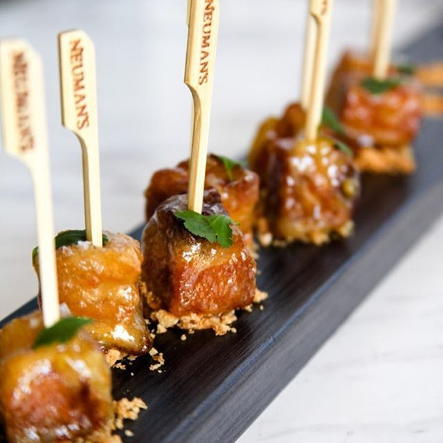 Pork Belly Lollipops Cooked In A Orange Marmalade And