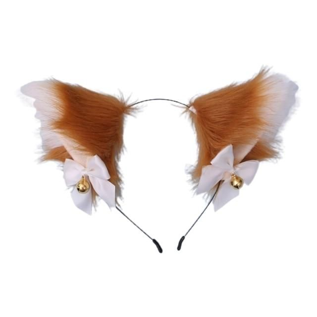 Photo of Women Sweet Lovely Anime Lolita Headband Cute Furry Plush Cat Ears Hair Hoop with Bowknot Small Bells Fancy Dress Cosplay Party – 13