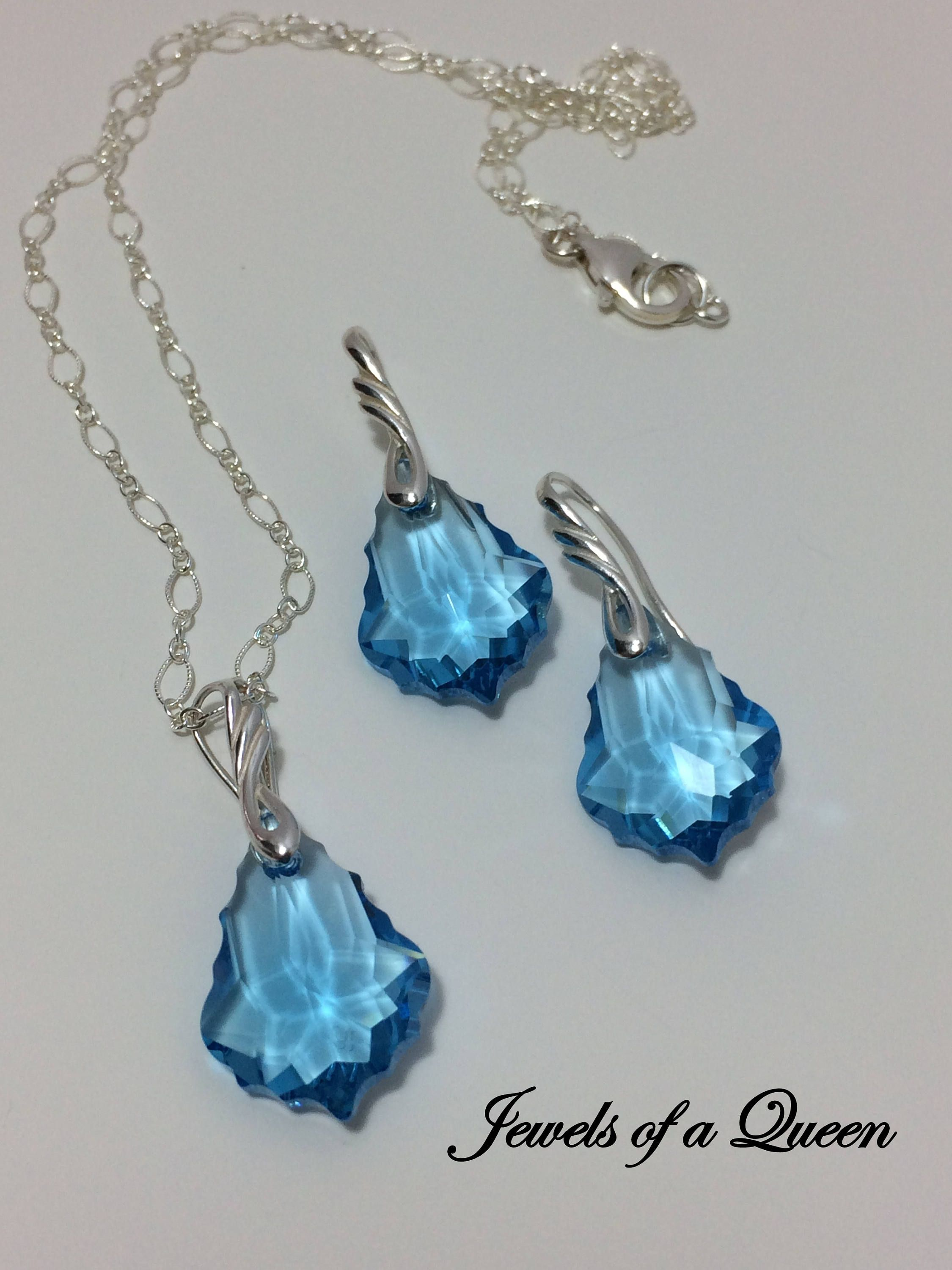 styling pendant wrapped crystal necklace product stones blue aqua