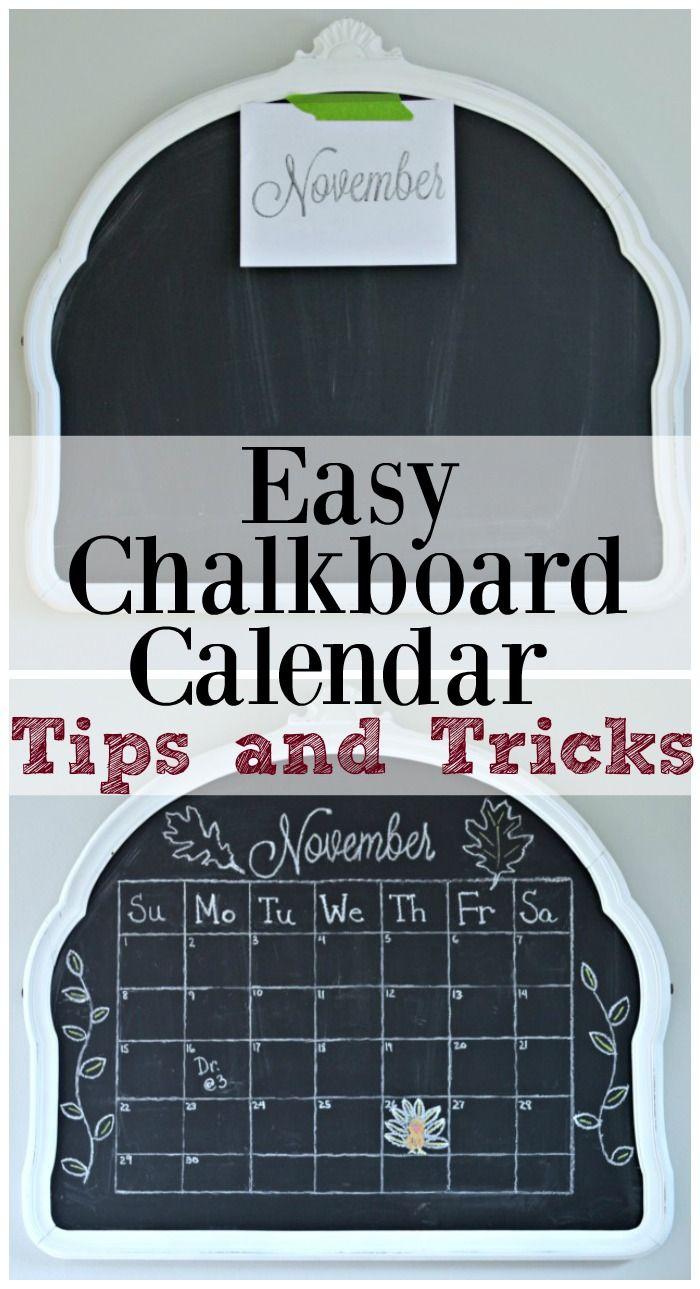 Easy Chalkboard Calendar Tutorial   CHATFIELD COURT