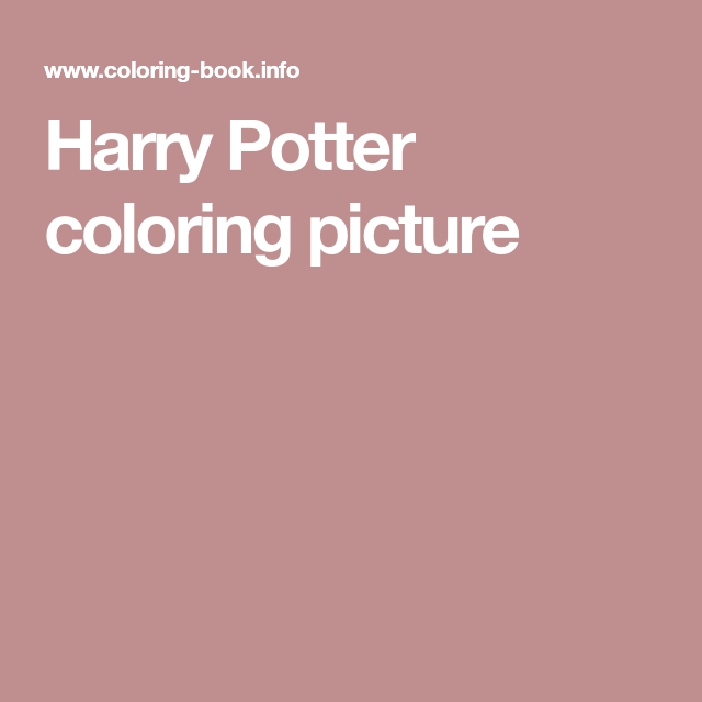 harry potter coloring picture mit bildern