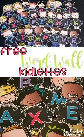 Create a beautiful word wall for free! Your kids will love using their kidlette word wall to read sight words and create amazing stories! They will reference the word wall during small group instruction, center and Daily 5 time, whole group and independent writing time.