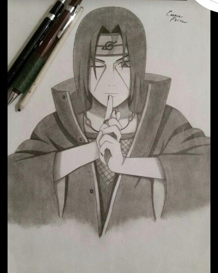 Fans De Naruto Fans De Animes Itachi Uchiha Art Naruto Drawings Naruto Sketch
