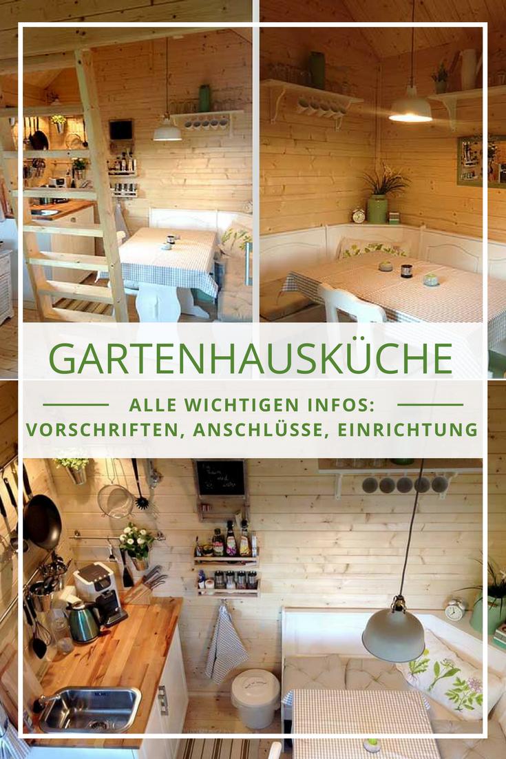 Küche im Gartenhaus von rechtlichen Vorschriften über