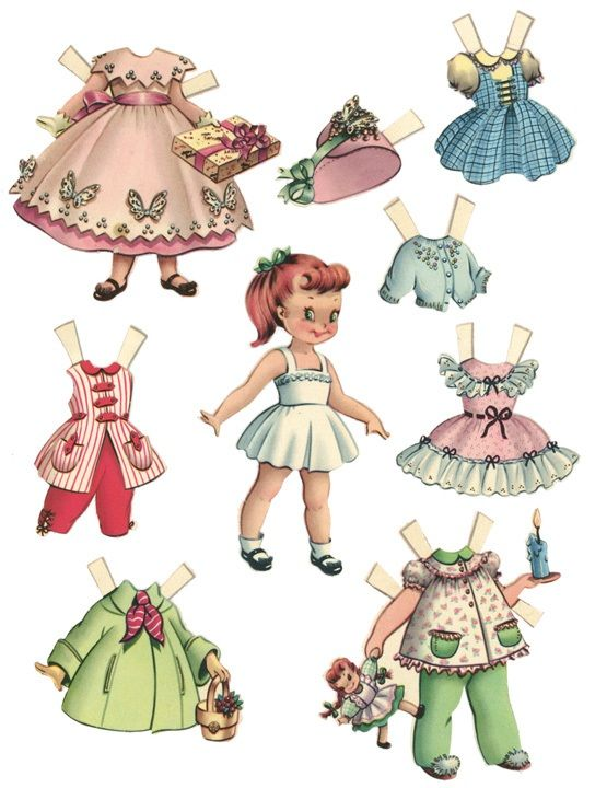 All kinds of printable vintage paper dolls, too cute.      http://too-much-time.com/2012/03/free-printable-paper-dolls-lots-and-lots.html