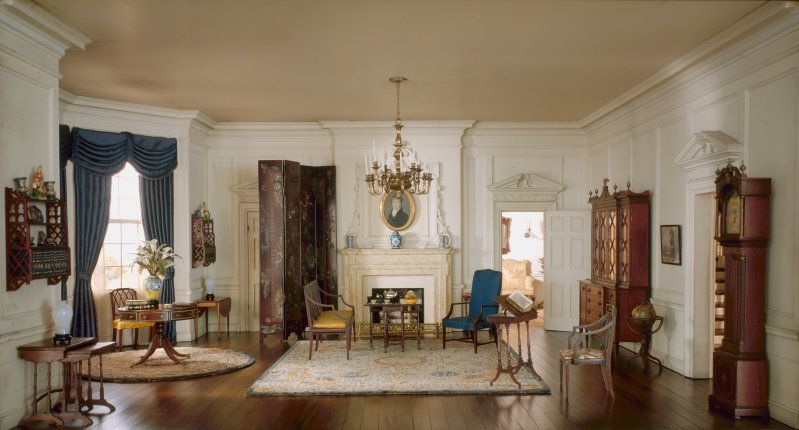 Rooms: Mrs. James Ward, Thorne Miniature Period Rooms. South