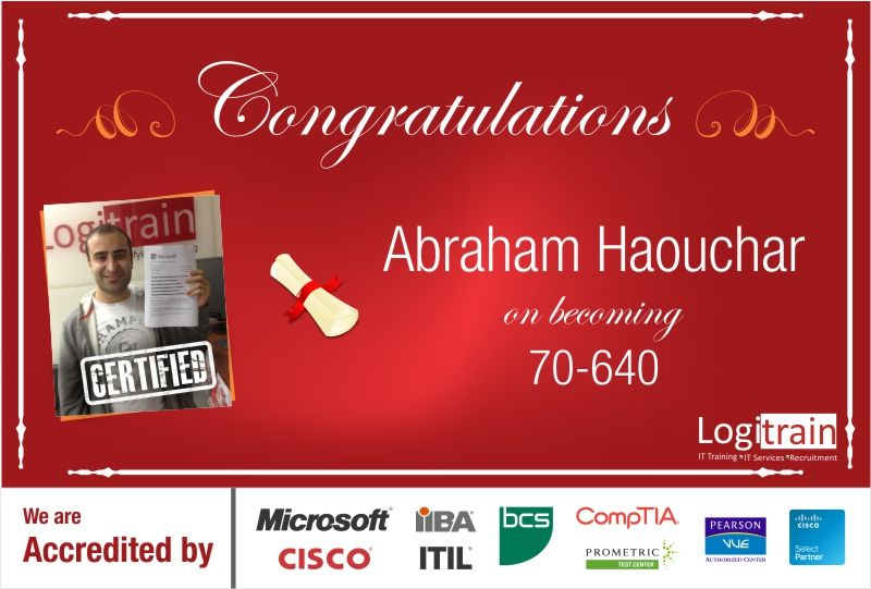 Abraham Haouchar Is A Brilliant Student At Logitrain He Just