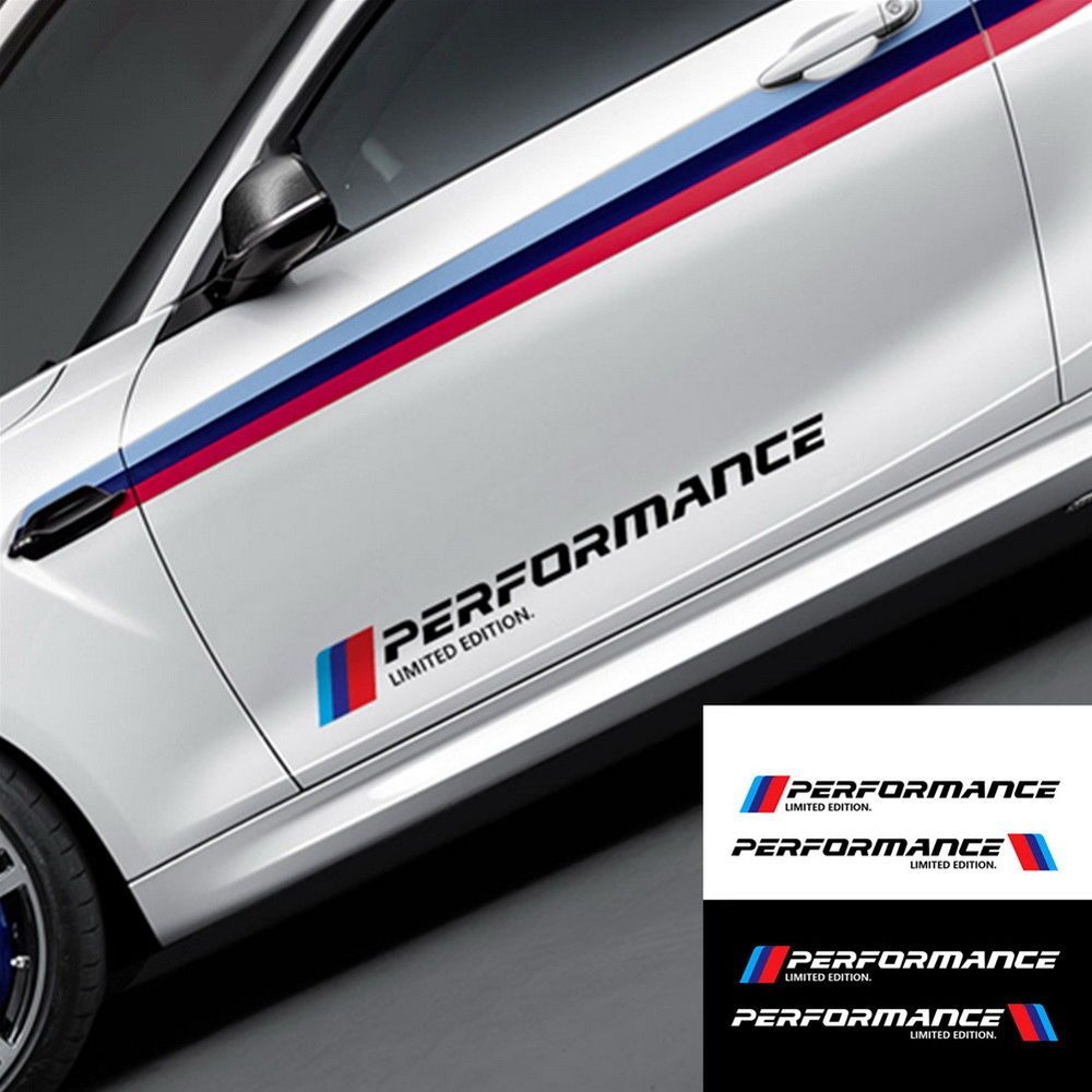 2x Performance Stickers For Bmw M Limited Edition Styling