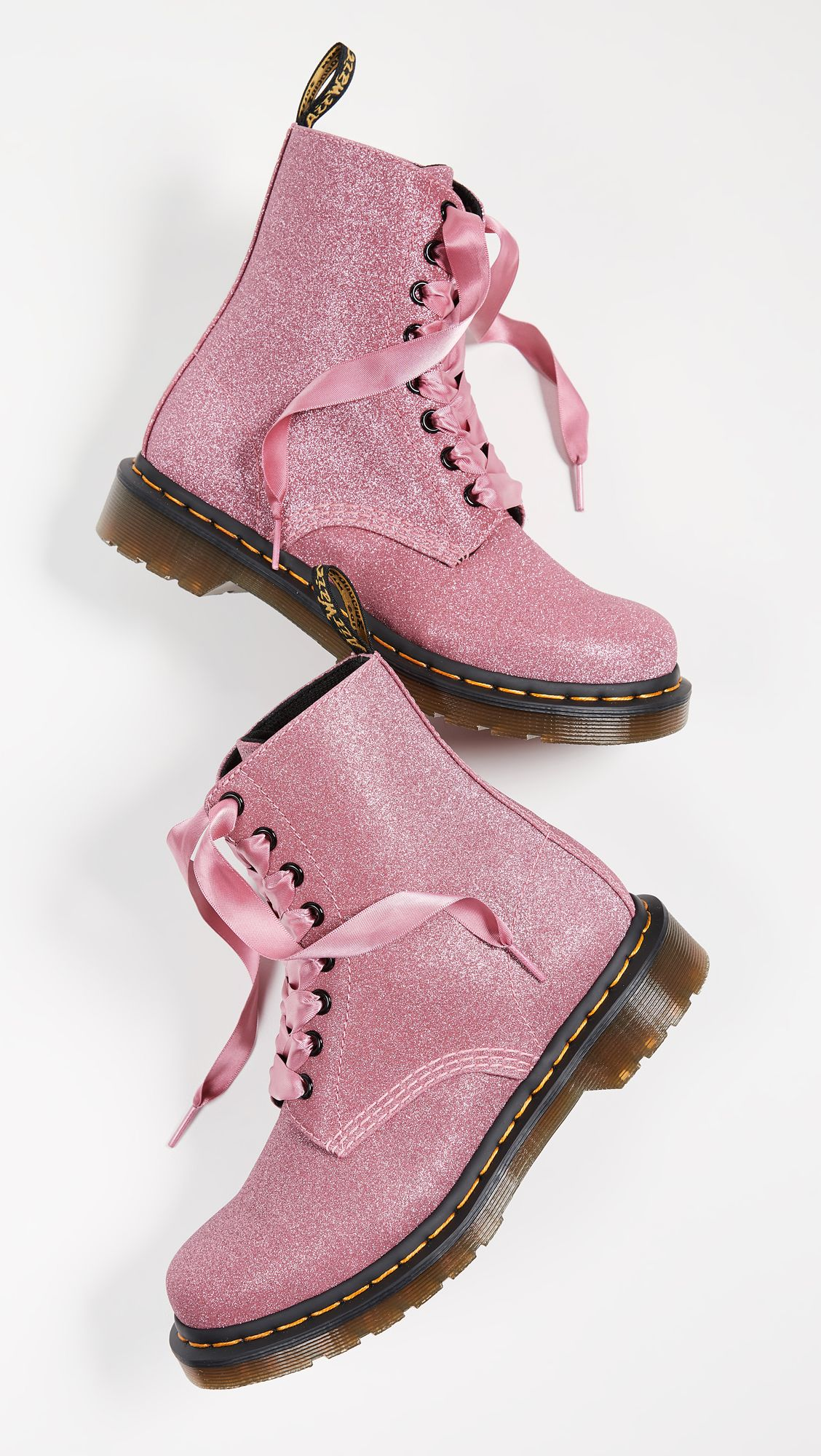 Dr Martens 1460 Pascal Glitter 8 Eye Boots Boots Lace Boots Combat Boots