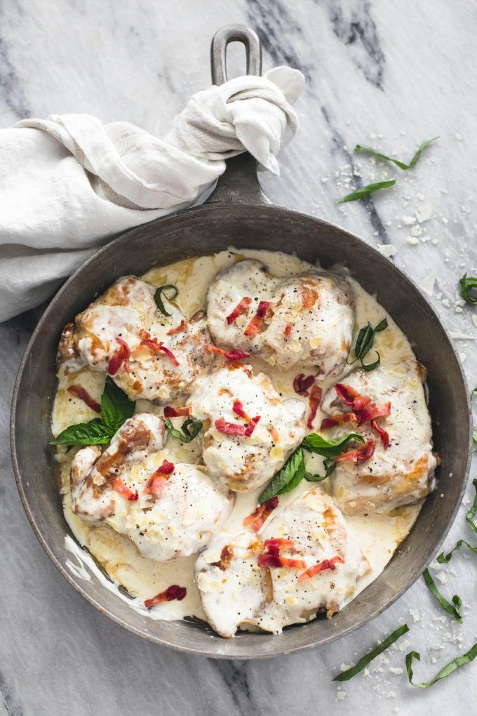 Creamy Asiago Bacon Chicken | Creme de la Crumb