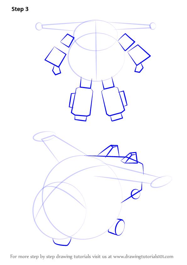 How to Draw Jett from Super Wings - DrawingTutorials101.com ...
