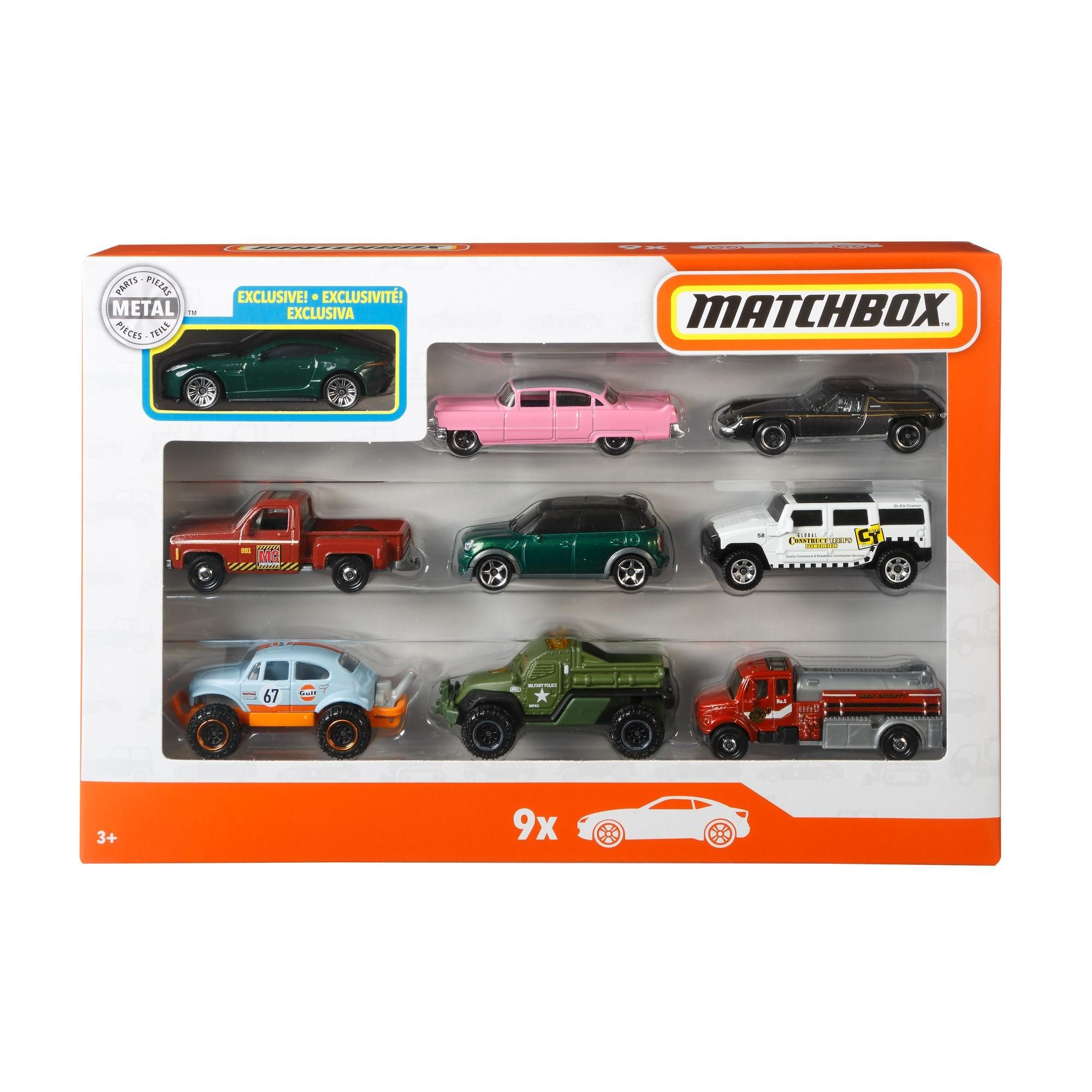 Matchbox 9 Car Collector Gift Pack Styles May Vary Car Play Vehicles Walmart Com In 2021 Matchbox Play Vehicles Collector Cars [ 2000 x 2000 Pixel ]