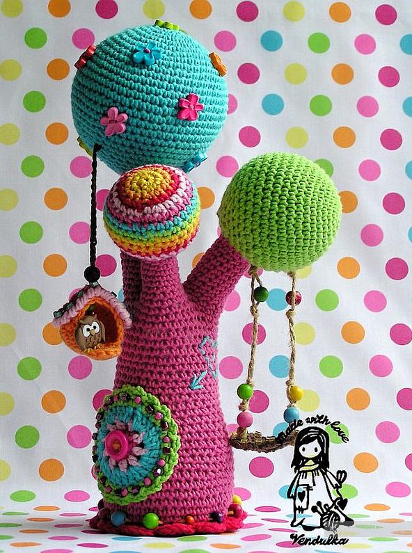 Авторские игрушки крючком - идеи для вязания дерево ...