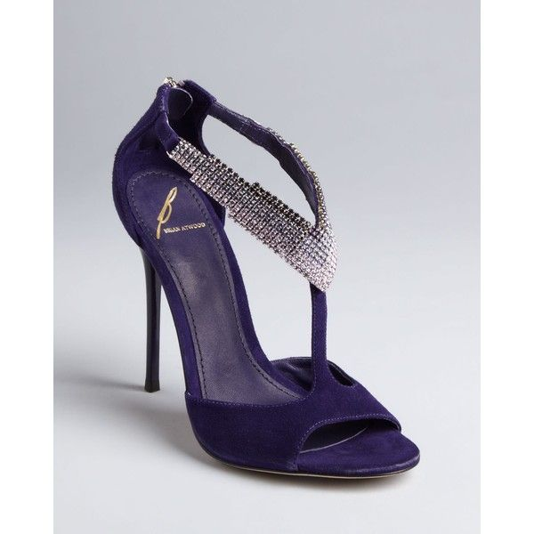 B Brian Atwood Jeweled Evening Pumps- Loretto ($375) ❤ liked on Polyvore