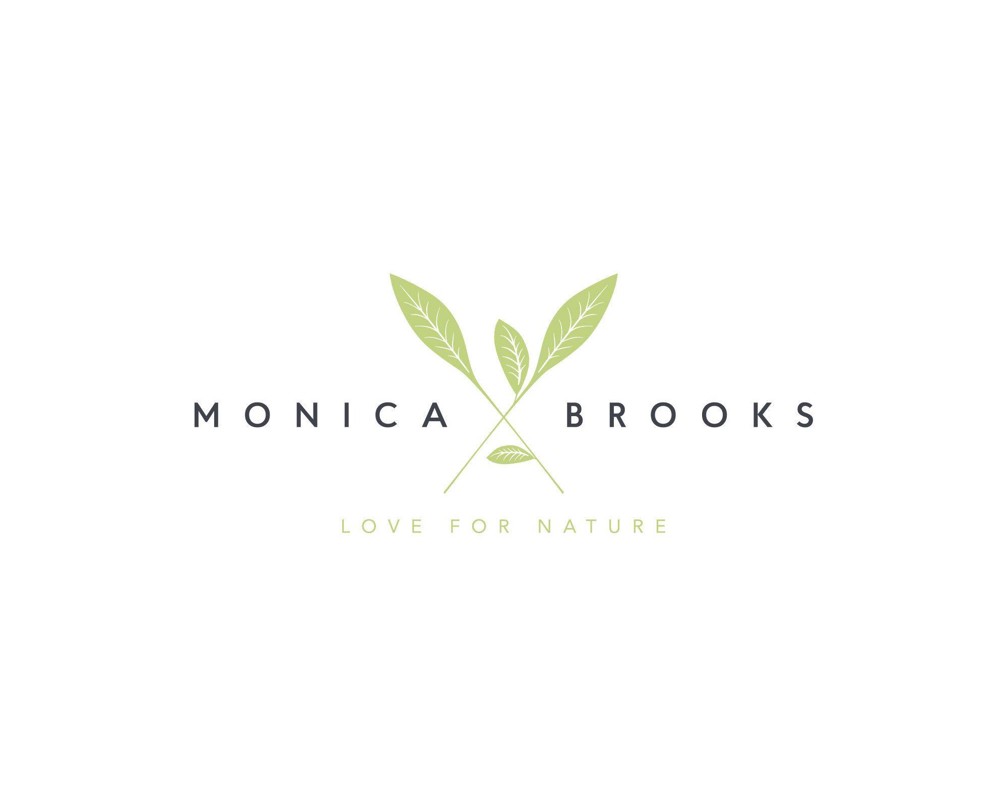 Leaf Logo Nature Logo Leaves Logo Organic Logo Garden | Etsy